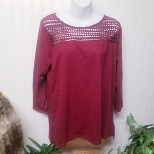 Energie Red Long Sleeve Shirt Size XL